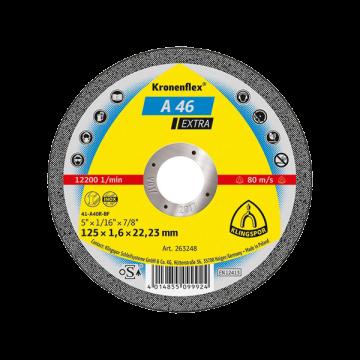 Disc debitare Kronenflex A46 Extra, 125 x 1,6 x 22,36 pentru metal si inox
