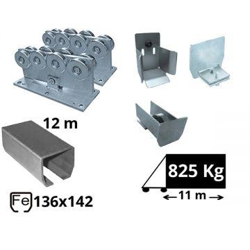 Kit SAP-136x142-Fe Sistem autoportant cu sina de fier pentru deschidere de 11 metri
