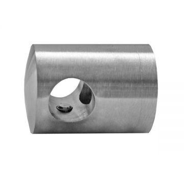 A82542L Prindere laterala pentru teava de Ø 10mm, prindere Ø 42,4 mm material INOX AISI304 finisaj lucios