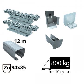 Kit SAP-80x80-Zn-H Sistem autoportant cu sina zincata pentru deschidere de 7 metri