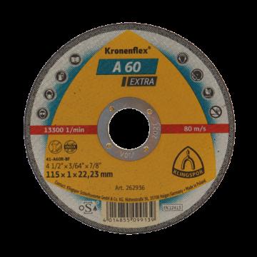 Disc debitare Kronenflex A660 R Supra, 125 x 1 x 22,23 pentru inox si metal