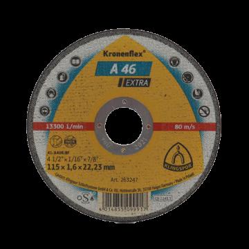 Disc bebitare Kronenflex  A46 Extra, 125 x 1,6 x 22,36 pentru metal si inox