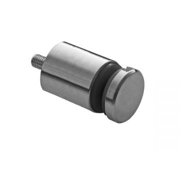 A746-30 Conector lateral inox AISI304 Distantier:30 mm Grosime sticla: 6-16 mm Finisaj: Satinat