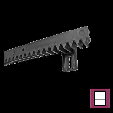 Cremaliera PVC cu insertie metalica, greutate maxima 300kg