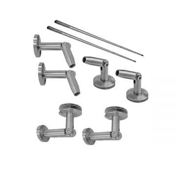 A8102 Kit usa glisanta din aluminiu pentru sticla de 8-10 mm