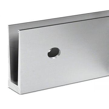 Profil aluminiu U AL0825-E finisaj satin efect elox lungime 2500 mm