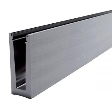 Profil aluminiu U AL0425-E finisaj satin efect elox lungime 2500 mm