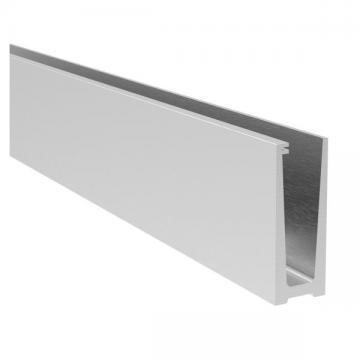 Profil aluminiu U AL0425-E finisaj satin efect inox lungime 2500 mm